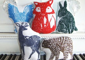 Handmade Screenprinted Pillows