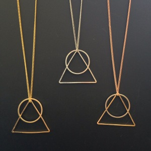The Mountain Sunrise Necklace, made in-house